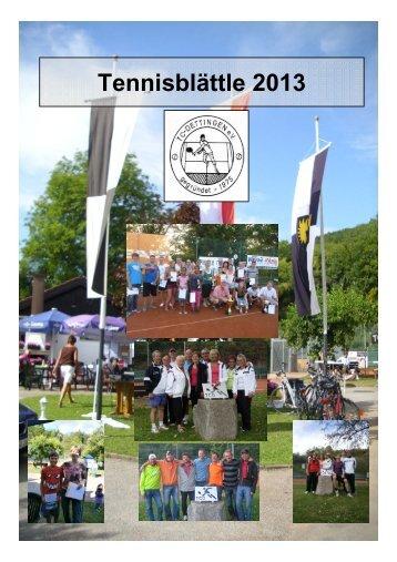 """""""Tennisblättle"""" - PDF"""