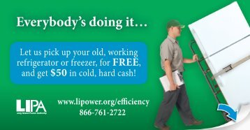 Let us pick up your old, working refrigerator or freezer, for FREE, and ...
