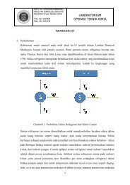 Modul Refrigerasi - Layanan Akademik Teknik Kimia ITB