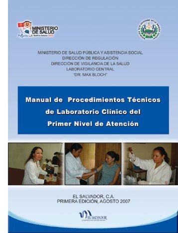 Manual de Procedimientos Técnicos de Laboratorio Clínico del