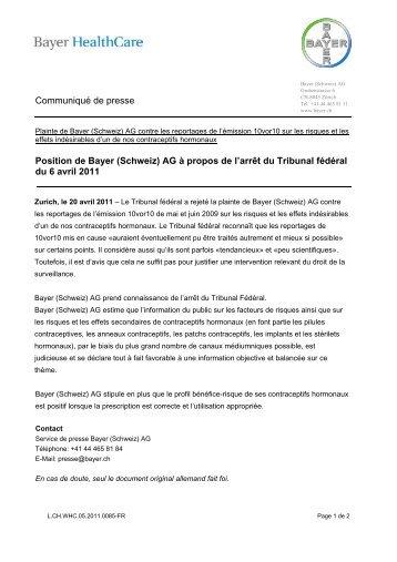 Communiqué de presse - Bayer