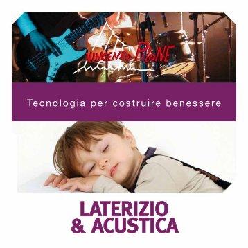 LATERIZIO & ACUSTICA - Fornace Pilone