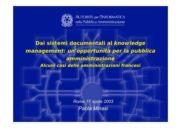 Alcuni casi delle Amministrazioni francesi - Cnipa