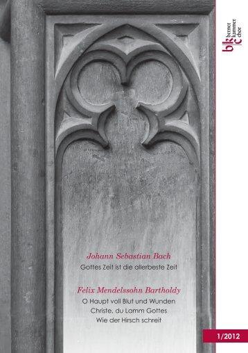 Johann Sebastian Bach Gottes Zeit ist die ... - Berner Kammerchor