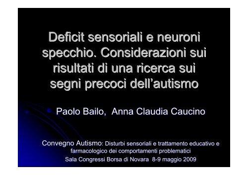 vedi Presentazione - Genitoricontroautismo.org