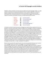 Le funzioni del linguaggio secondo Jakobson - Scuole Maestre Pie