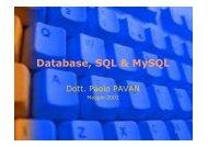 Manuale MySQL - Paolo PAVAN