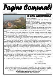Pagine Comunali Agosto 2004 - Comune di Pennabilli