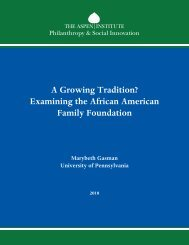 A Growing Tradition? Examining the African American Family Foundation