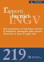 Rete gravimetrica di precisione all'isola di Pantelleria. Monografie ...
