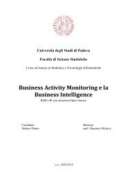 Business Activity Monitoring e la Business Intelligence - SpagoWorld