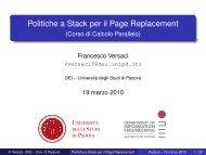 Politiche a Stack per il Page Replacement - Dipartimento di ...