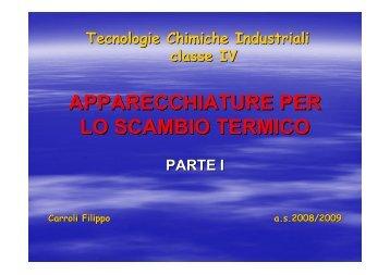 Apparecchiature per lo scambio termico I parte - Istituto Tecnico ...