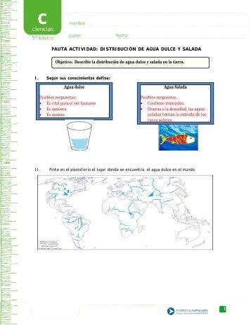 Distribución de agua dulce y salada