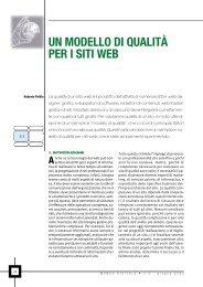 UN MODELLO DI QUALITÀ PER I SITI WEB - Mondo Digitale