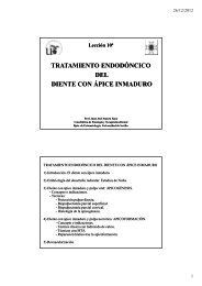 TRATAMIENTO DEL DIENTE CON ÁPICE INMADURO