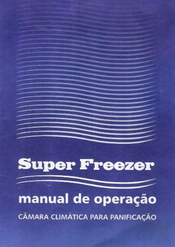 Manual da Câmara Climática Eletronic - Super Freezer Refrigeração