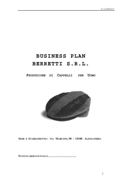 business plan berretti srl