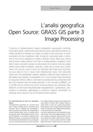 L'analisi geografica Open Source: GRASS GIS parte 3 ... - Faunalia