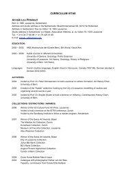 curriculum vitae a4 vertical english - Galerie Bernhard Bischoff ...