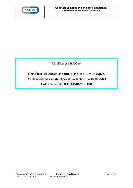 certificati infocert