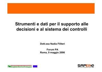 Strumenti e dati per il supporto alle decisioni e al sistema dei ...