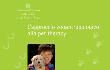 L'approccio zooantropologico alla pet therapy - Ministero della Salute