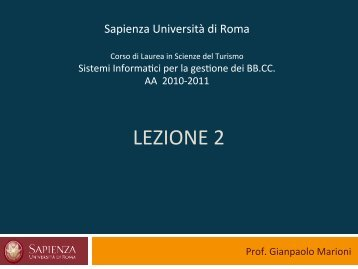 ' Sapienza' Università 'di'Roma - SISTUR