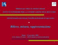 Rilievo, misura, rappresentazione - Unsa Beni Culturali