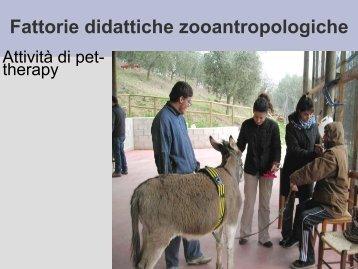 Fattorie didattiche zooantropologiche