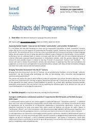 Convegno - Abstracts Fringe.pdf - Lend Trento