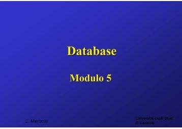 Introduzione ai database e al modello relazionale - Università degli ...