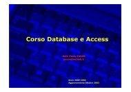 Corso Database e Access - Paolo PAVAN