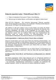 Filialeröffnung in Wien 12 - Zielpunkt