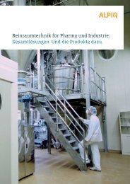 Reinraumtechnik - Pharma/Industrie: Broschüre PDF (1.8 MB)