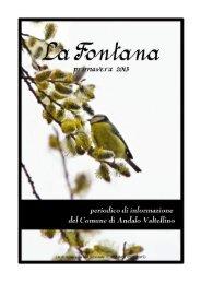 anno 2013 numero 1 - Comune di Andalo Valtellino