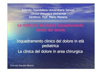 La medicina del dolore inquadramento clinico del dolore ...