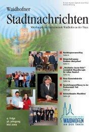 Waidhofner Stadtnachrichten Mai 2009 - Waidhofen an der Thaya
