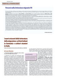 Letteratura migrante - Dipartimento di Studi Linguistici e Letterari