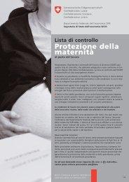 Lista di controllo: protezione della maternità - Seco - admin.ch