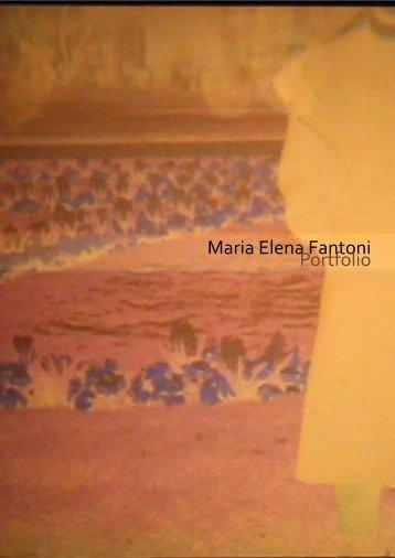 Maria Elena Fantoni Portfolio - Fondazione Antonio Ratti