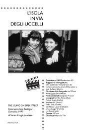 L'ISOLA IN VIA DEGLI UCCELLI - Lombardia Spettacolo