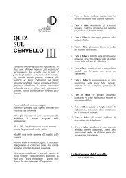 QUIZ SUL CERVELLO II