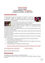 Diario di bordo del progetto A.S 2008 /09 - Comune di Rimini