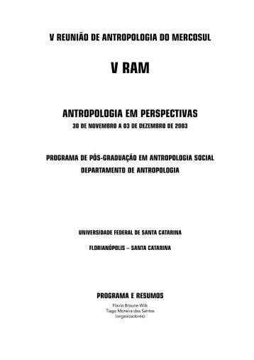 Livro V RAM - Comunidade Virtual de Antropologia