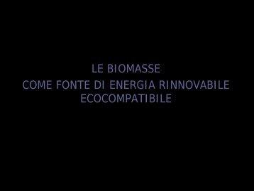 le biomasse come fonte di energia rinnovabile ... - SicilianPlus