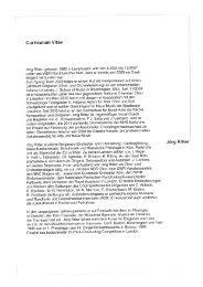 Curriculum Vitae - Berner Kammerchor