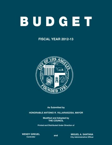 2012-2013 Adopted Budget - LA City Controller - The City of Los ...