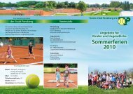 Sommerferien 2010 - Tennis-Club Penzberg eV