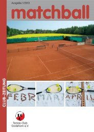 Download Matchball - Tennis Club Godshorn e.V.